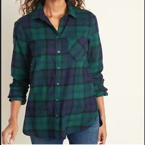 Old Navy Women's Classic Patterned Flannel Shirt